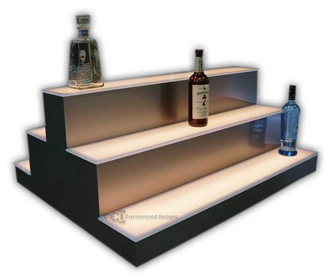 Custom 2 Sided 3 Tier Island Display w/ Low Profile 1st Tier and High Profile 2nd and 3rd Tiers