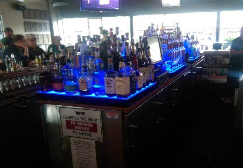 Island Style Commercial Bar Shelving