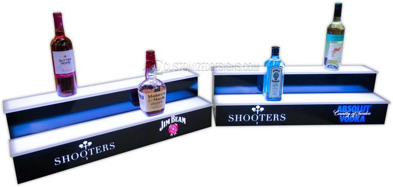 2 Step Liquor Display w/ Jim Beam & Absolut Logos