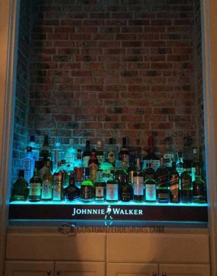 3 Tier Home Bar Display w/ Johnnie Walker Logo