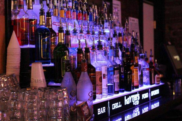 Lighted Bar Shelving