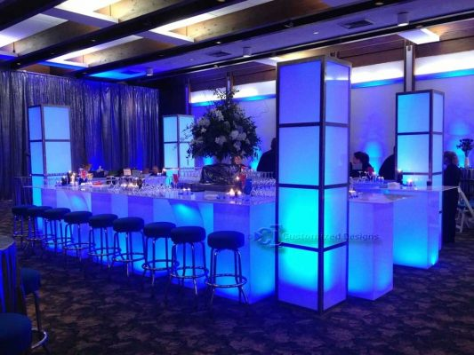 LED Illuminated Event Furniture & Towers