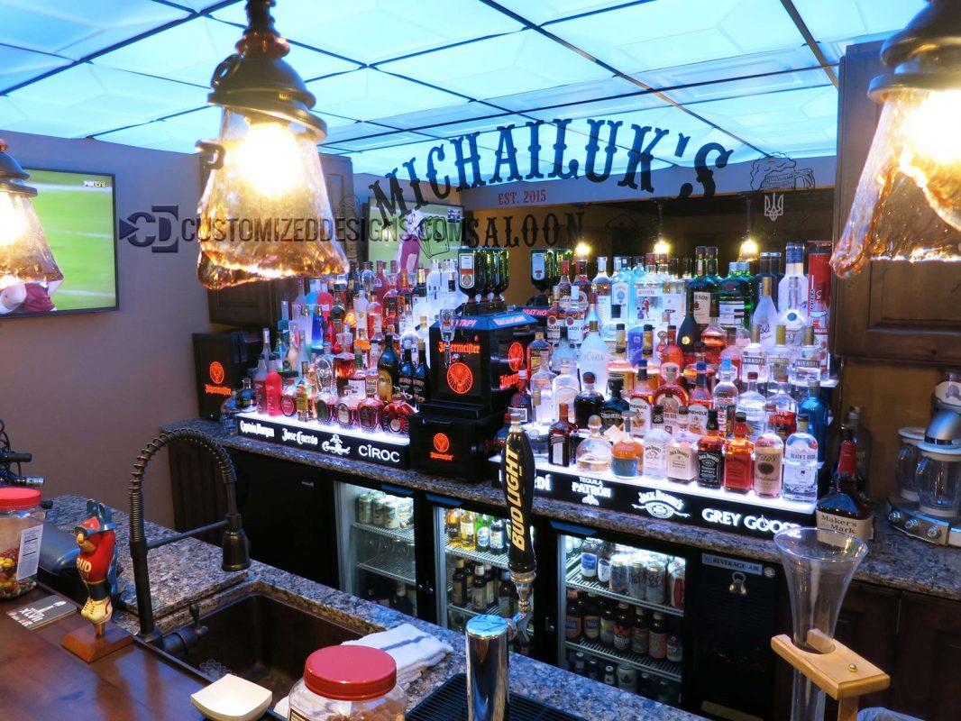 Back Bar Liquor Displays