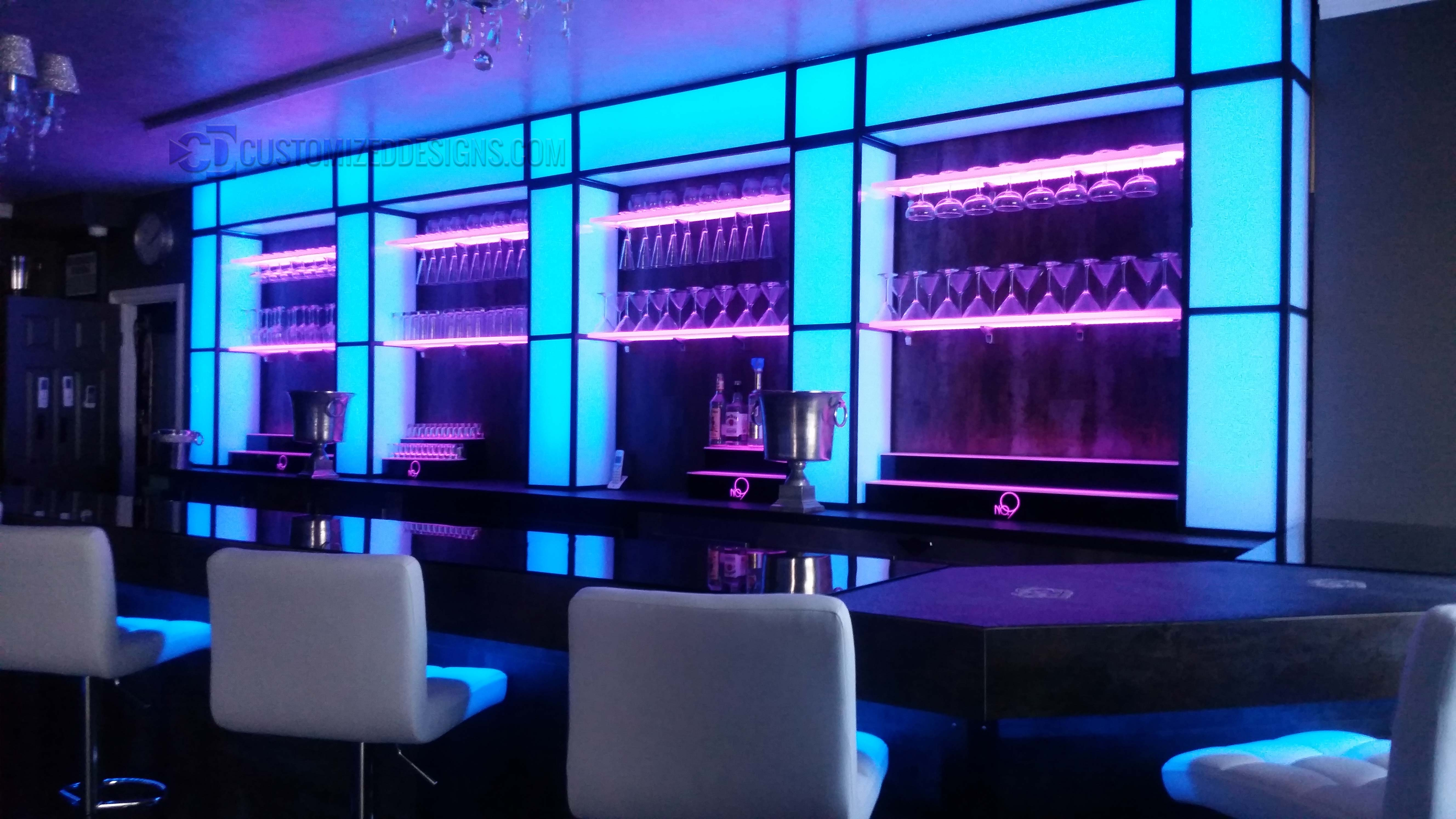 Lighted Display Shelving For Bars Nightclubs Restaurants