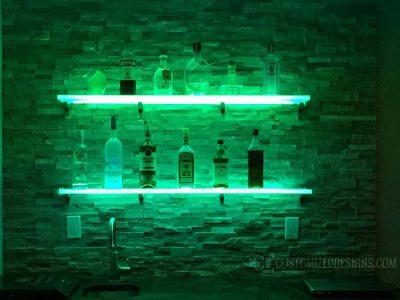Wall Mounted LED Shelving