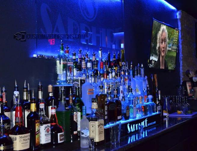 4 Tier Lighted Liquor Bottle Display