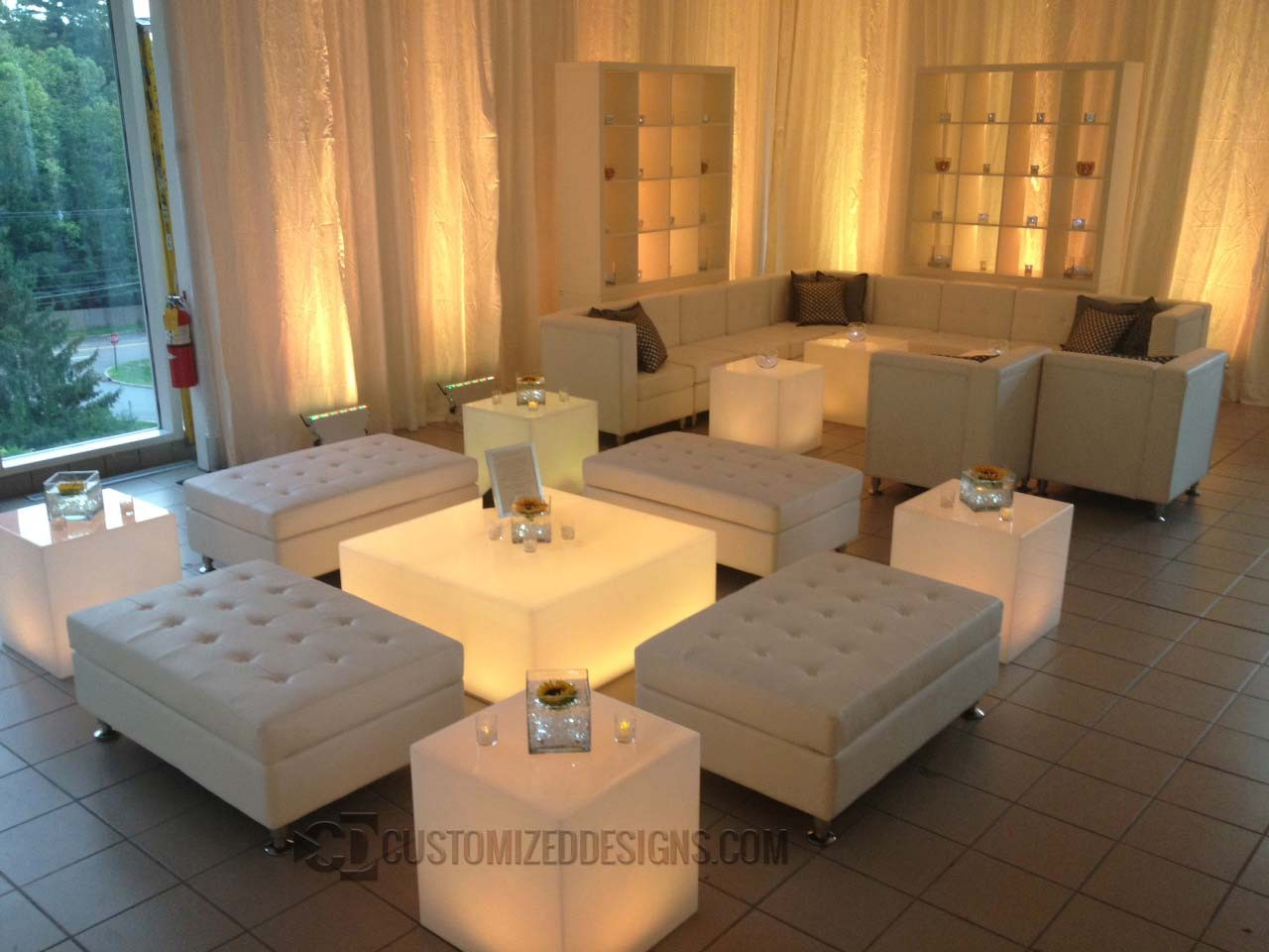 Led lighted coffee table for nightclubs lounges or home bars Home bar furniture canada