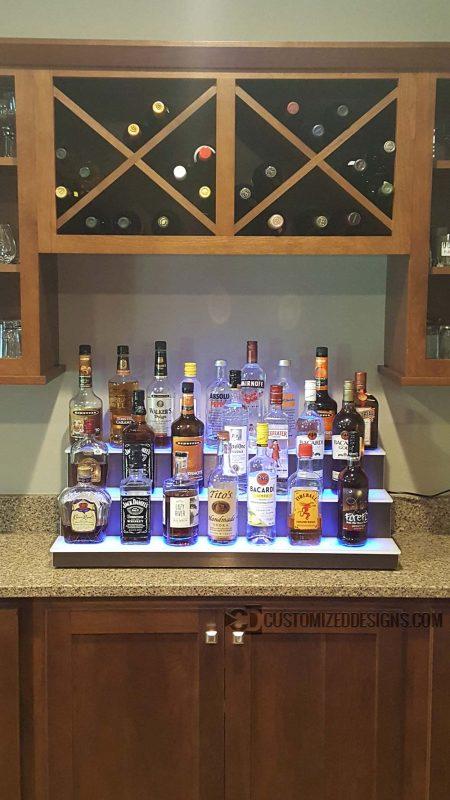 Low Profile Liquor Bottle Shelves
