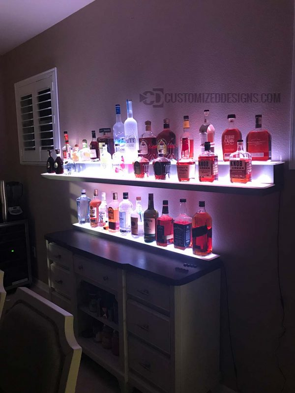 Wall Mounted Bar Shelving
