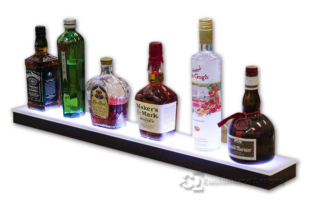 1 Tier Low Profile Liquor Shelf