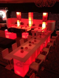 LED Nightclub Furniture w/ Red Lighting
