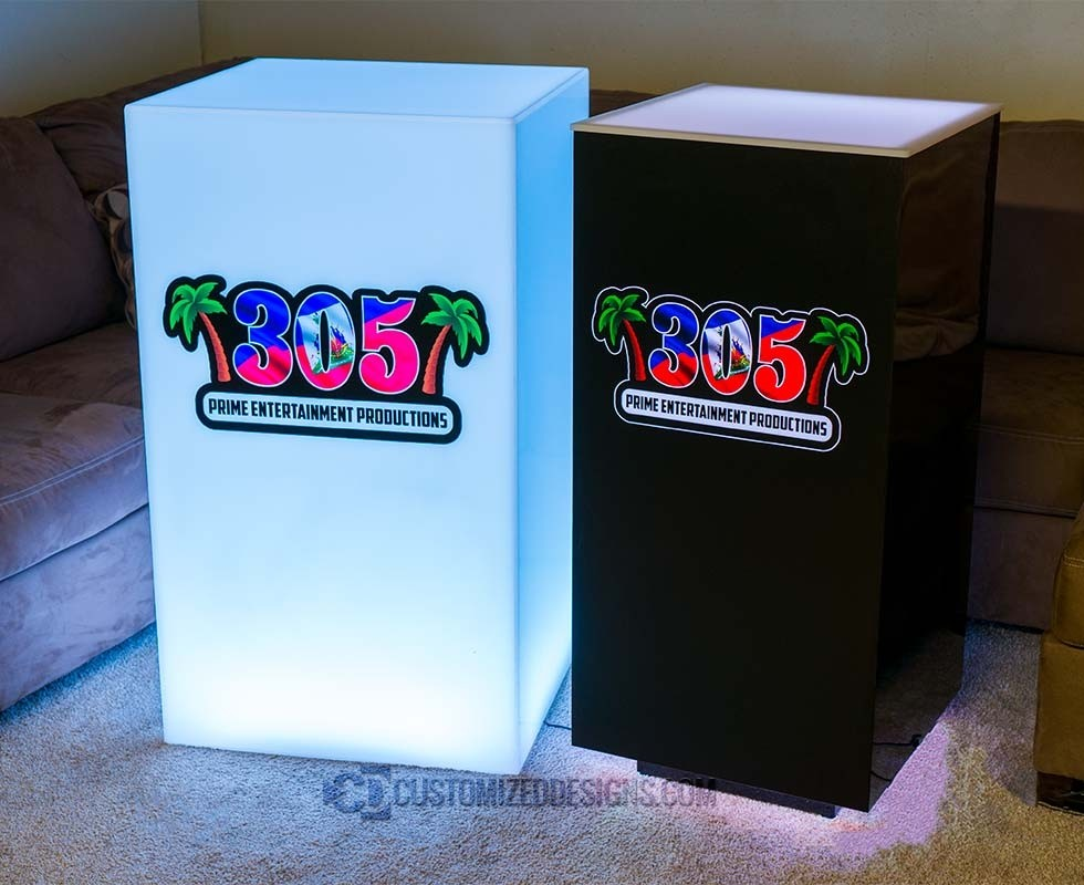 Cubix LED Illuminated Bar Table 3