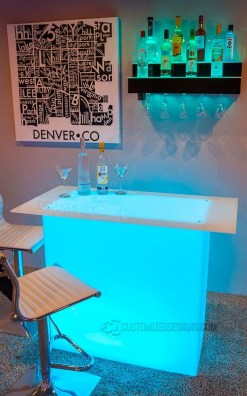 Lumen LED Lighted Table w/ Added Table Top
