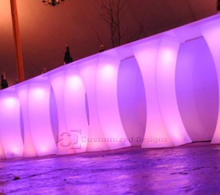 Curve LED Lighted High Boy Tables 4