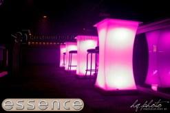 Curve LED Lighted High Boy Tables 6