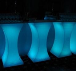 Curve LED Lighted High Boy Tables 8