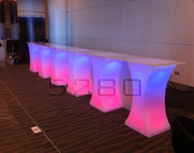 Curve LED Lighted High Boy Tables 9
