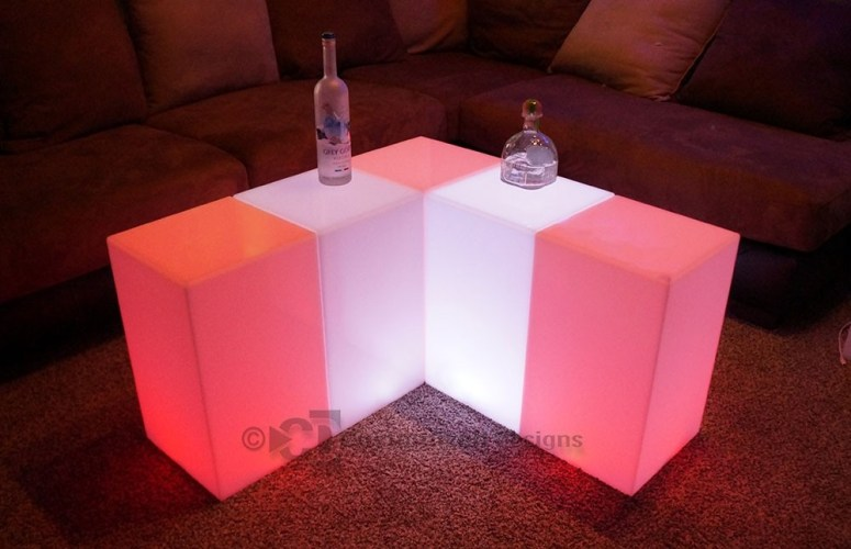 12x12 LED Lighted Side Tables