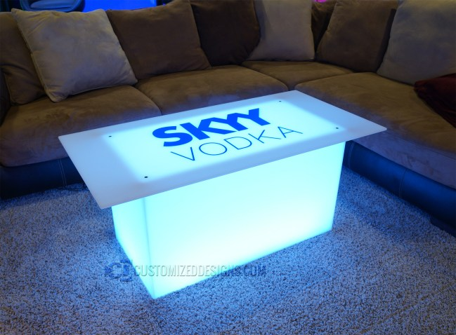"""Lumen with Skyy Vodka Logo and 48"""" x 24"""" Table Top"""