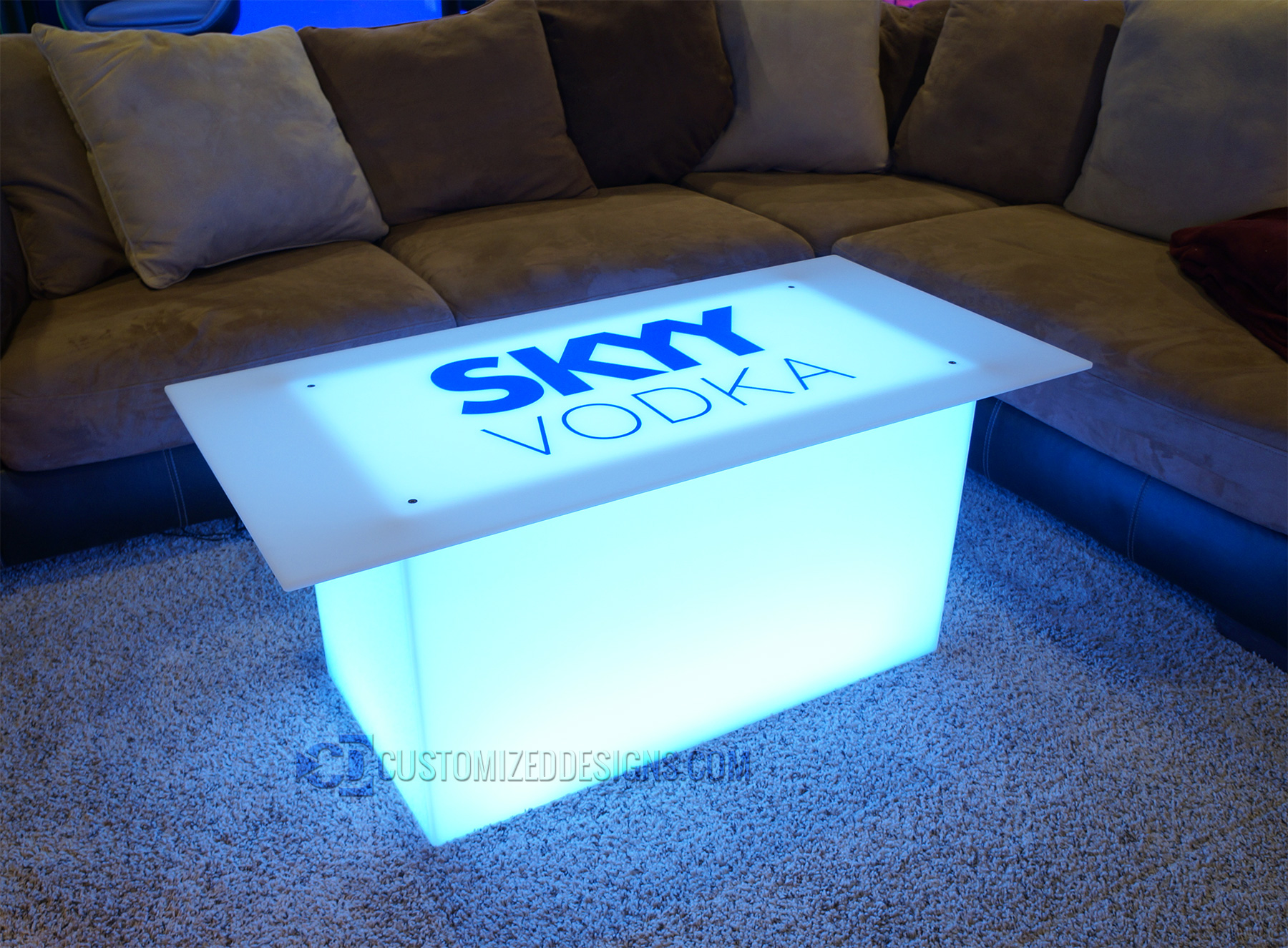 "Lumen with Skyy Vodka Logo and 48"" x 24"" Table Top"