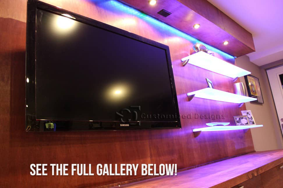 LED Lighted Display Shelves