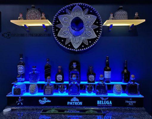 Mexican Theme Home Bar Shelving