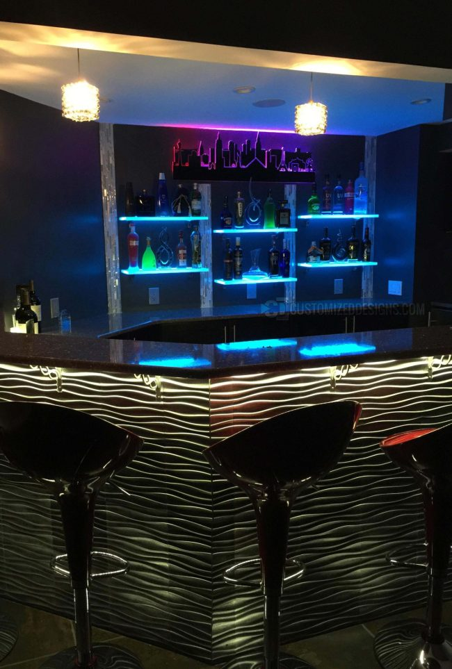 Mordern Home Bar Shelves