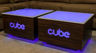 Modern LED Lighted Coffee Table