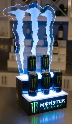 LED Lighted Monster Energy Display Stand