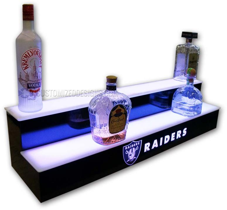Oakland Raiders 2 Step Lighted Bottle Display