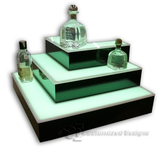 3 Tier Outside Corner Style Bottle Display
