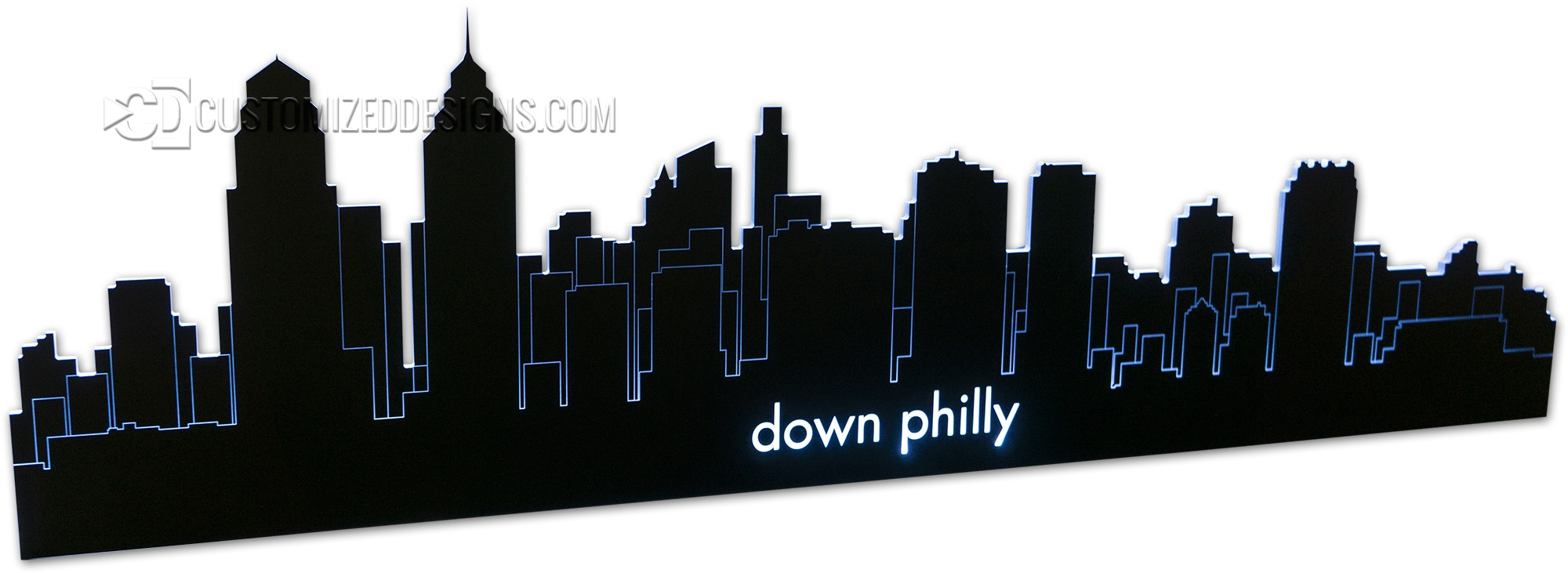 Philadelphia LED Lighted Skyline