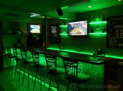 Philadelphia Eagles Man Cave w/ LED Shelving