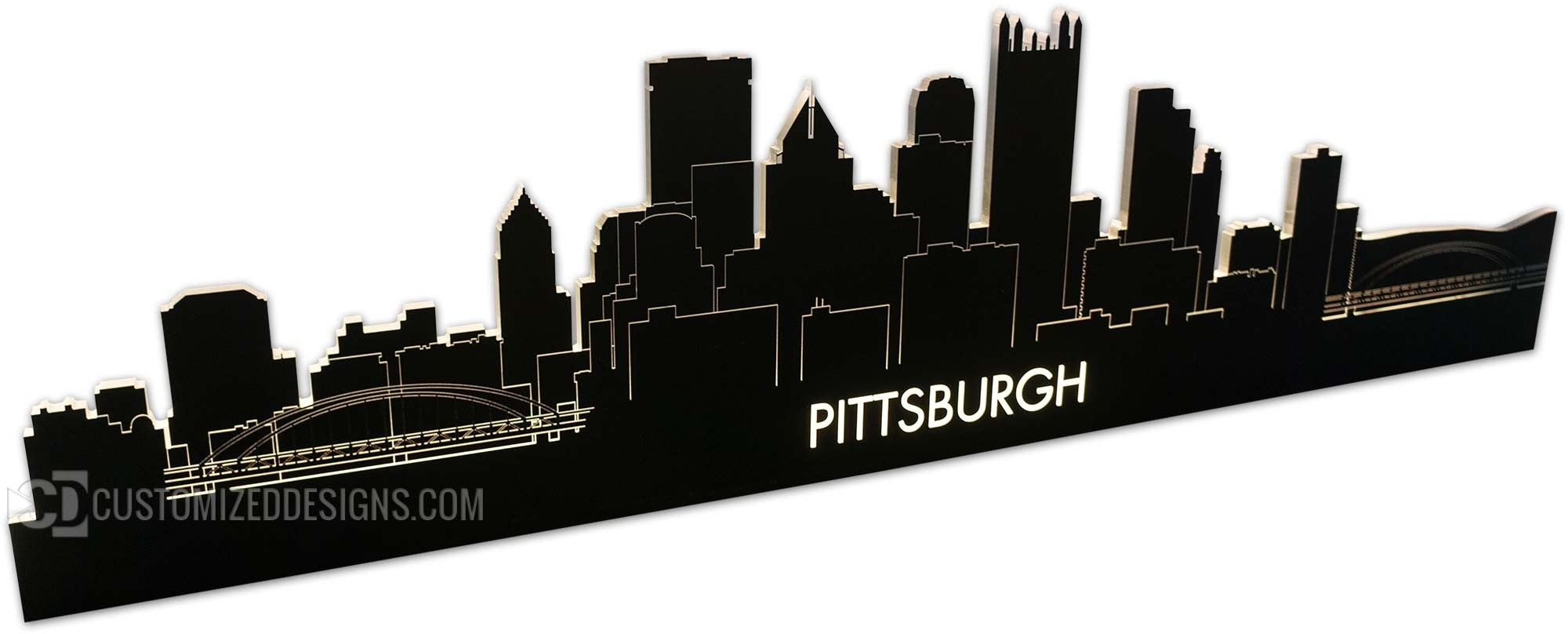 Pittsburgh, PA LED Lighted Skyline
