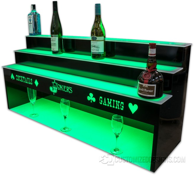 "3 Tier 48"" Bar Display w/ 10"" High Storage"