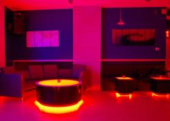 Round LED Lighted Coffee Table