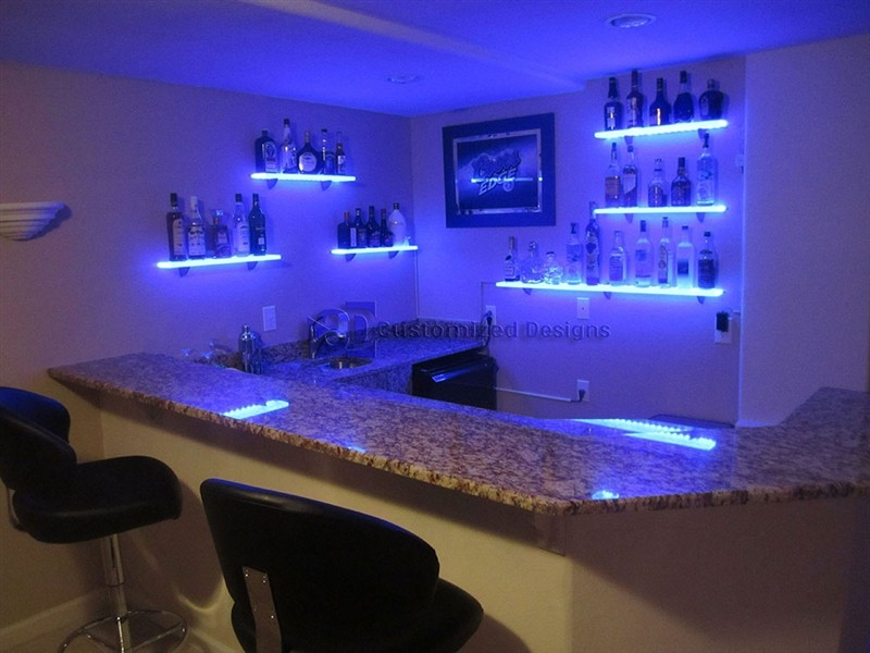 4 5 Led Lighted Floating Shelves
