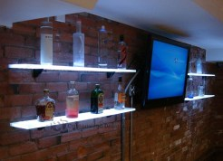 LED Shelving - Brick Installation