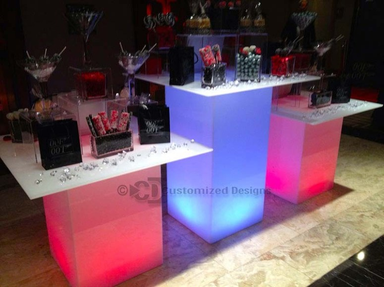 LED Lighted Event Tables