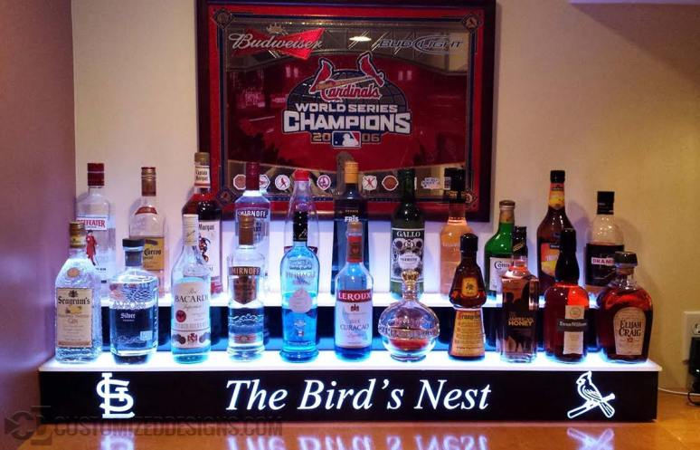 St. Louis Cardinals Themed Home Bar