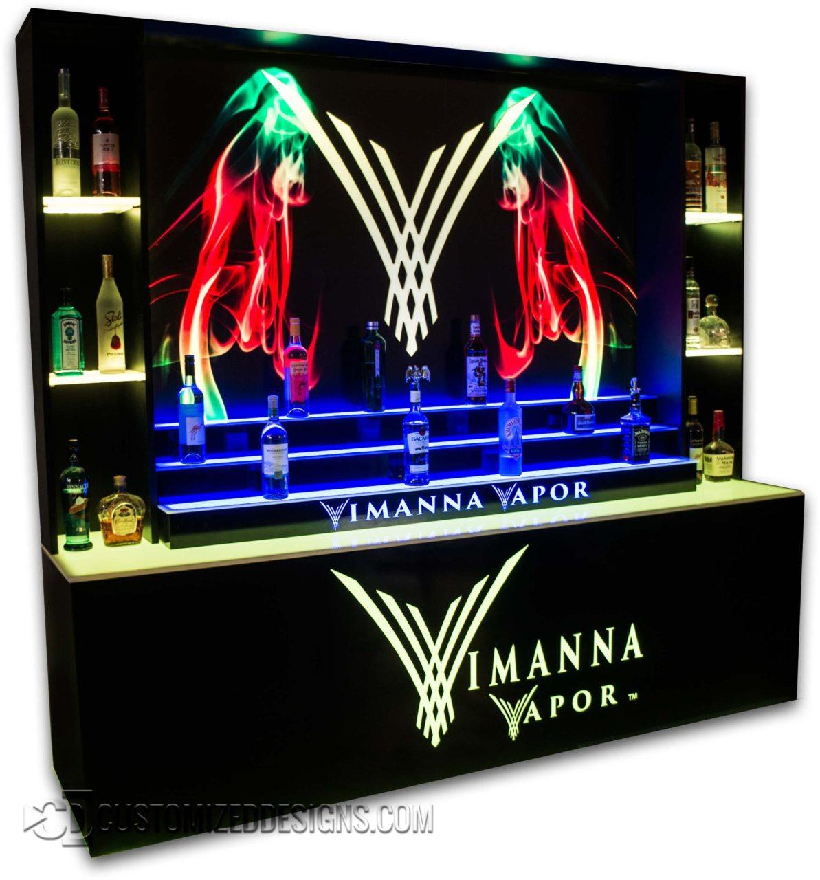 Custom LED Back Bar Display for Vape Store