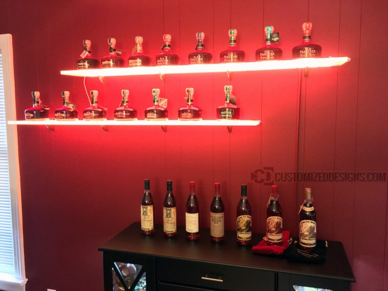 LED Shelving - Whiskey Collection