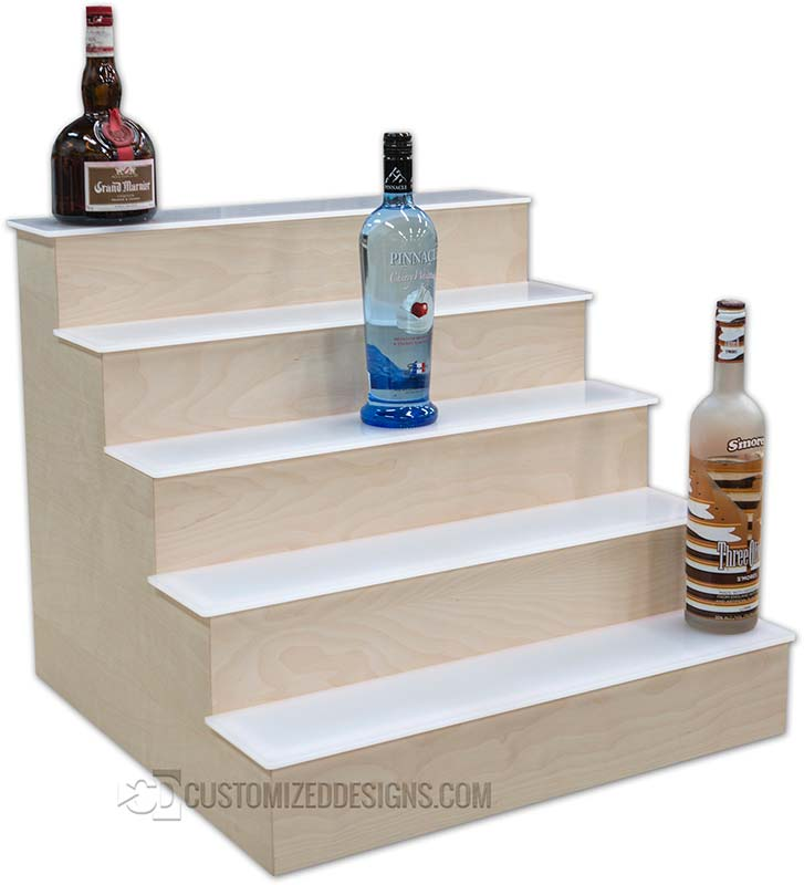5 Tier Liquor Shelving - White Birch Veneer