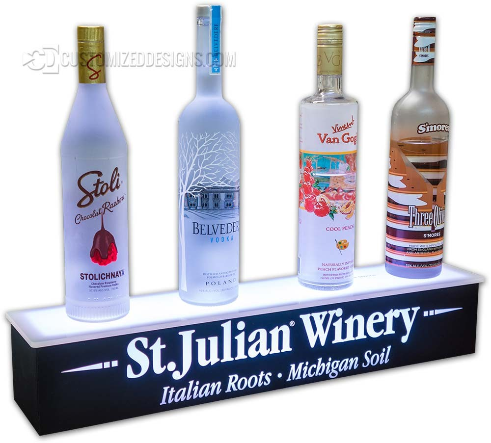 1 Tier Wine Bottle Glorifier w/ Logo