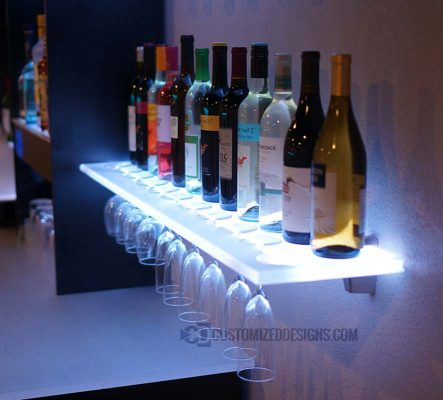 LED Wine Glass Shelves