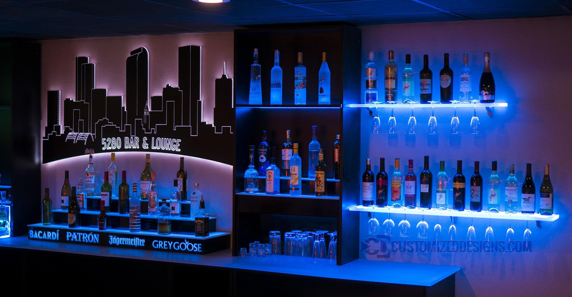 Wall Mounted Denver LED Lighted Skyline Art