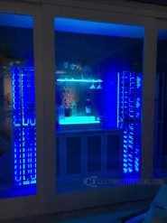 Home Wine Cellar w/ LED Lighted Shelving