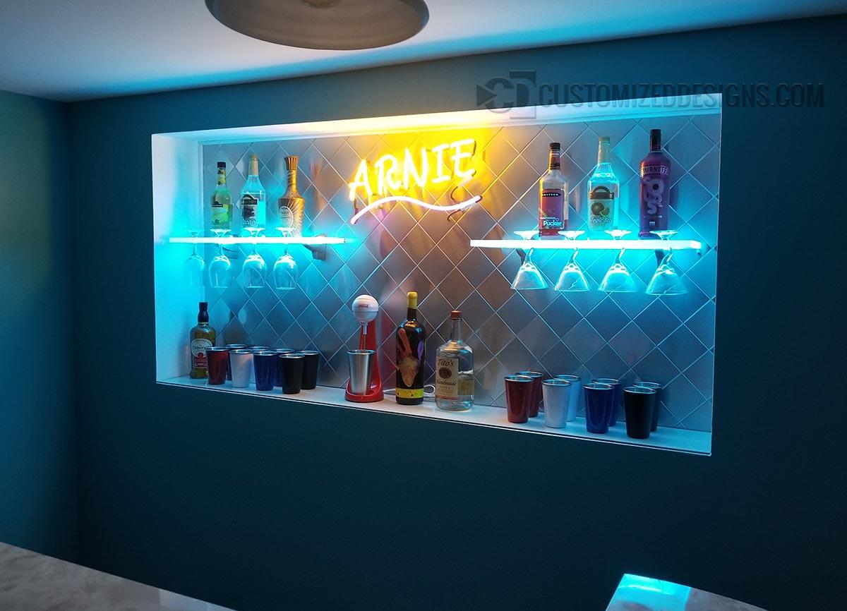Martini Wine Glass Shelving