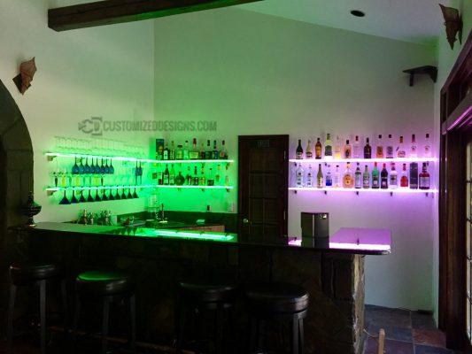 LED Wine Glass Shelving