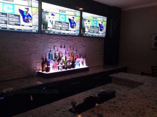 "48"" 3 Step Wrap Style Liquor Display"